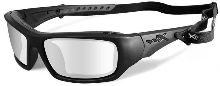wiley x wx arrow safety sunglasses with matte black frame and clear lens 15